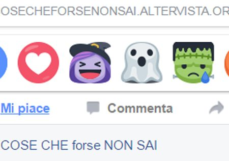"FACEBOOK INTRODUCE LE ""ICONE MOSTRUOSE"", MA SOLO PER HALLOWEEN."