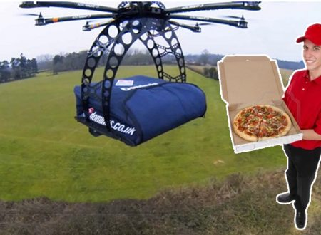 LA PIZZA? LA CONSEGNA IL DRONE! GUARDA IL VIDEO !