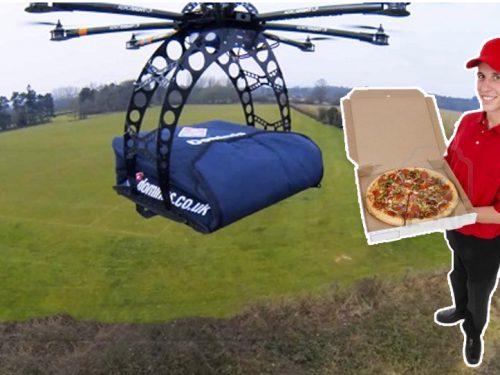 LA PIZZA? LA CONSEGNA IL DRONE! GUARDA IL VIDEO !