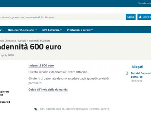 600 Euro Inps – Dove controllare quando avverrà il pagamento